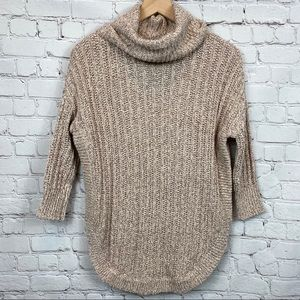 Express | Cowl Neck Circle Hem Oversized Sweater